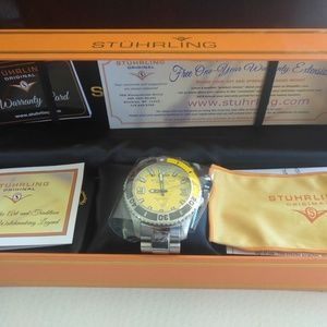 Accessories - Stuhrling Regatta Valiant Men's Diver Wrist Watch